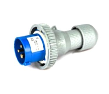 Spina industriale CEE blu 2P+T 16A 240V IP67