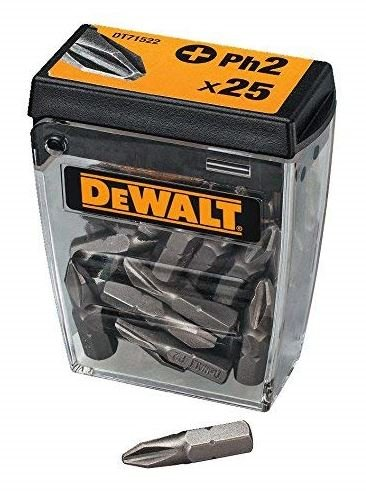 DEWALT DT71522 SET 25 PEZZI INSERTI STANDARD PH2 25MM