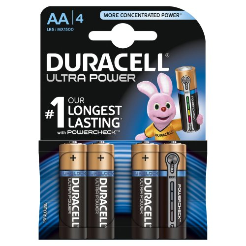 Batterie Alcaline Duracell ULTRA POWER AA Stilo