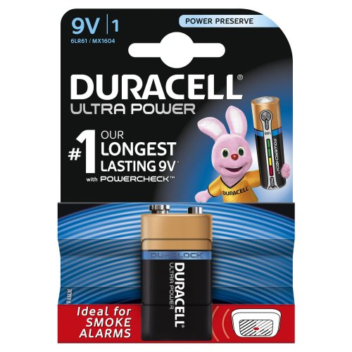Batterie Alcaline Duracell ULTRA POWER 9V