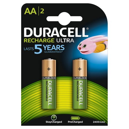 Batterie ricaricabili Duracell Recharge Ultra AA Stilo 2pz