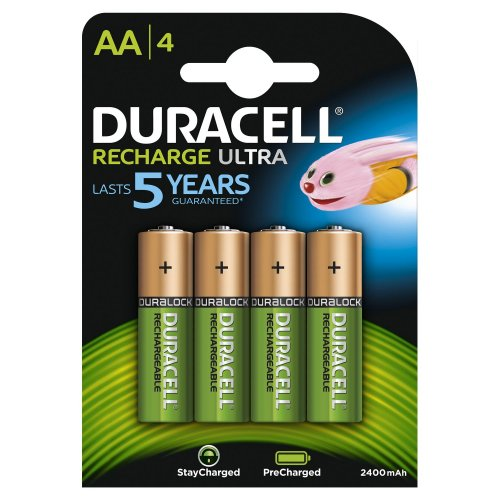 Batterie ricaricabili Duracell Recharge Ultra AA Stilo 4pz