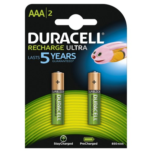 Batterie ricaricabili Duracell Recharge Ultra AAA Mini Stilo