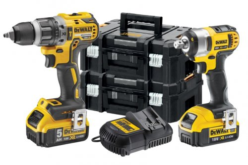 KIT 2 Avvitatori a batteria 18V XR Litio 5Ah Dewalt DCK2151P2T