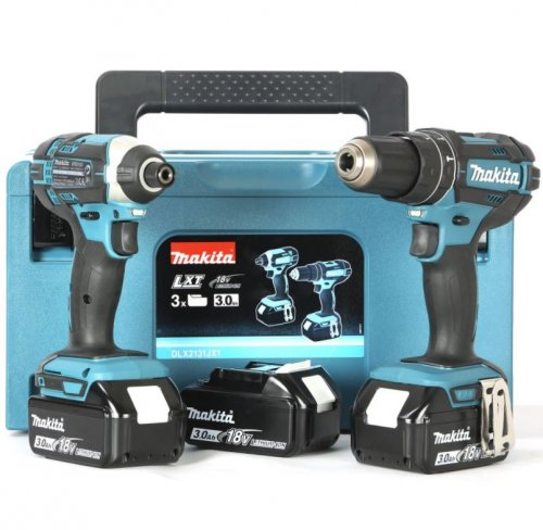 Makita DLX2131JX1 Kit avvitatori + Impulsi + 3 Batterie 18V