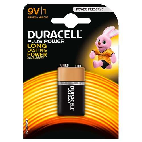 Batteria Alcalina Duracell PLUS POWER 9V
