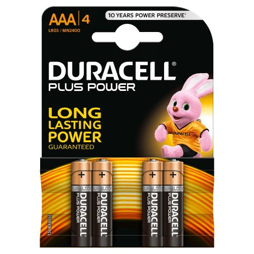 Batterie Alcaline Duracell PLUS POWER AAA mini Stilo