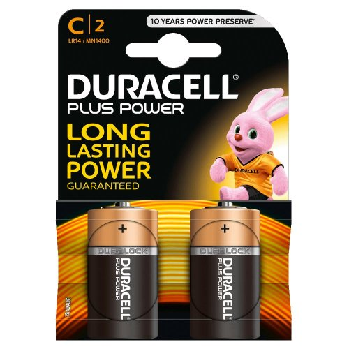 Batterie Alcaline Duracell PLUS POWER C2 mezza torcia