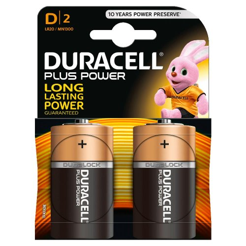 Batterie Alcaline Duracell PLUS POWER D2 Torcia