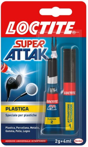 Loctite colla Super Attak Plastica 2g+4ml