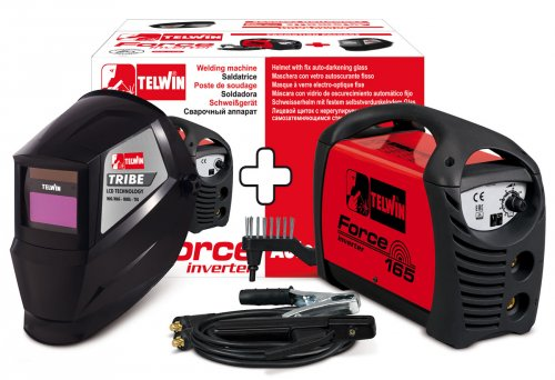 Saldatrice inverter Telwin Force 165 + accessori + Maschera LCD
