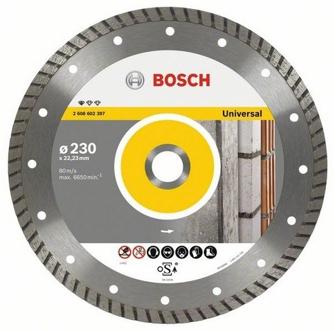 Disco diamantato Bosch ø mm 230 Universale turbo