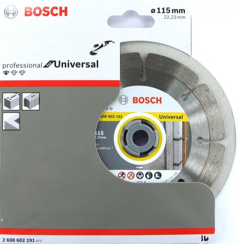 Disco diamantato Bosch ø mm 115 Universale