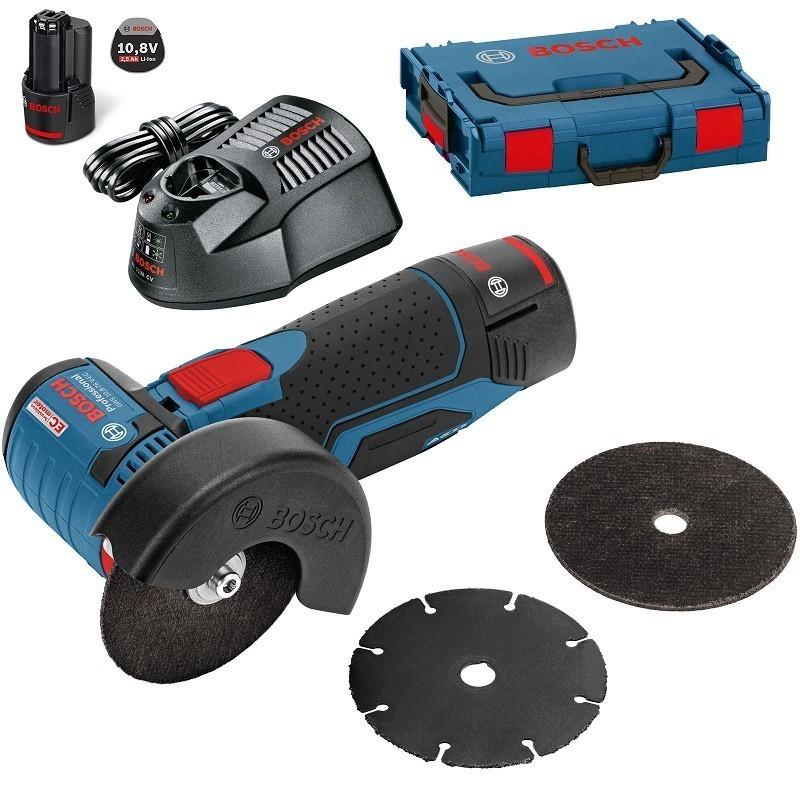 mini smerigliatrice a batteria bosch gws 10 8 76 v ec toolshop italia. Black Bedroom Furniture Sets. Home Design Ideas