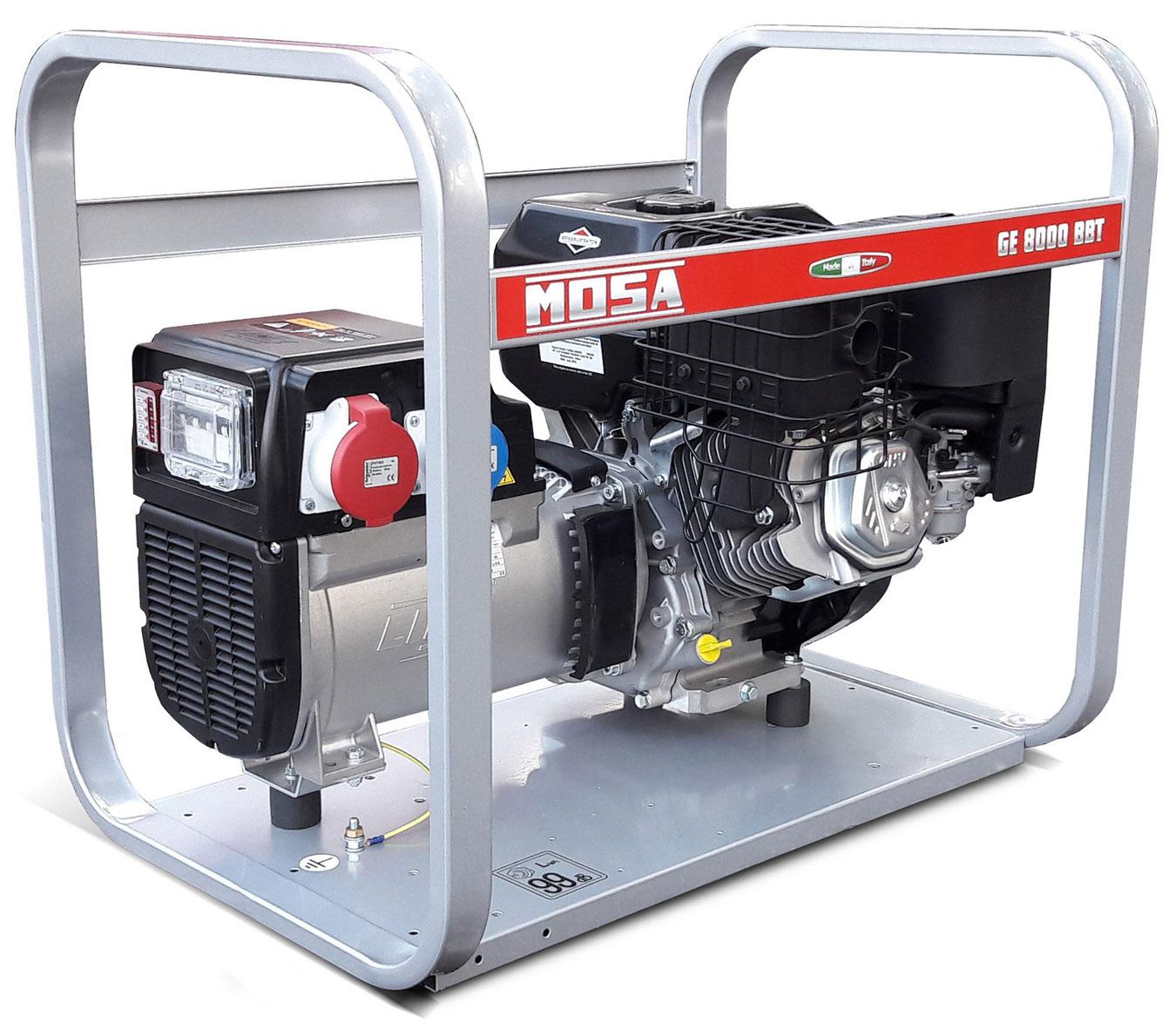 Generatore di corrente mosa ge 8000 bbt 5 6kw trifase for Generatore di corrente bricoman
