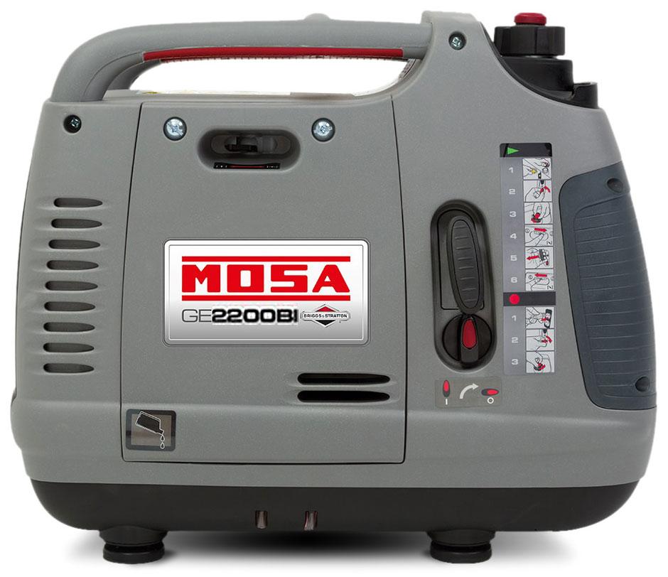 Generatore di corrente portatile 2 2 kw benzina mosa ge for Generatore di corrente lidl