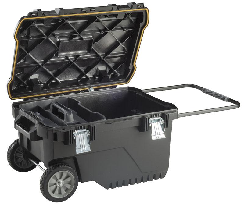 Baule porta attrezzi con ruote stanley fatmax da 90 litri - Cassetta porta attrezzi stanley con ruote ...